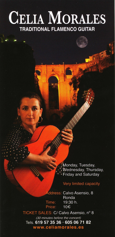 CELIA MORALES TRADITIONAL FLAMENCO GUITAR (SHOW)  Celia Morales